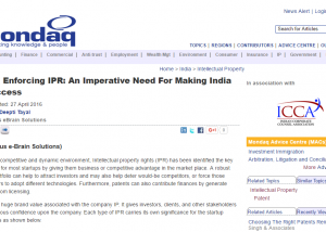 IEBS - India-enforcing-IPR