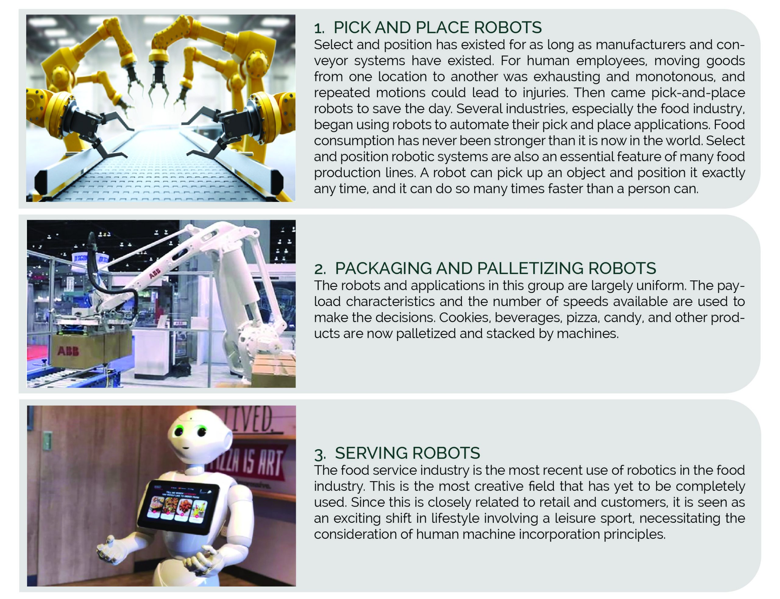Classification of Robots in the Food Industry - Ingenious e-Brain