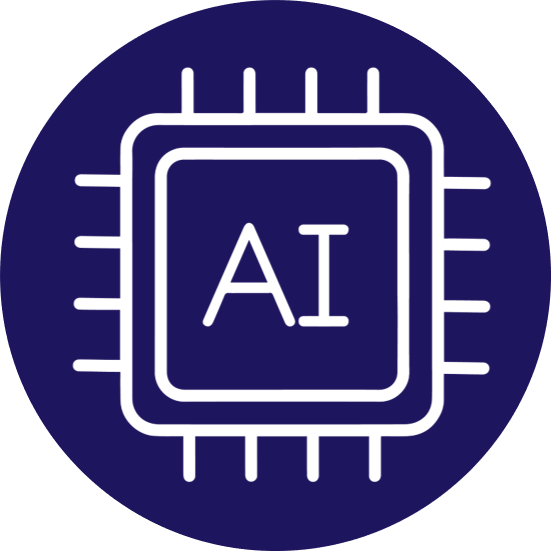 Artificial Intelligence and Machine Learning Icon - Ingenious e-Brain
