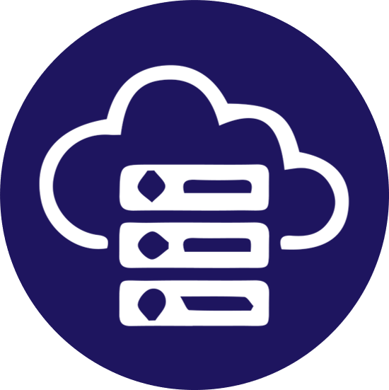 Cloud Computing and Databases Icon - Ingenious e-Brain